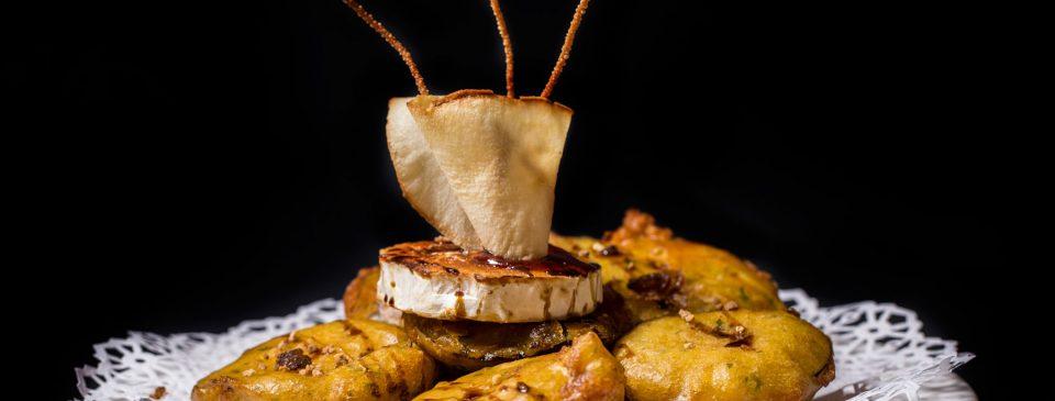 Berenjenas con miel al queso de cabra